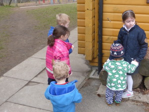 Toddlers visit outdoor time